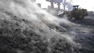Entladung von Kohlelieferung