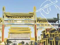 Hutong Dashilar FuflgâÄ°ngerzone Dazhalan Subdistrikt S¸dtor vom Platz des Himmlischen Friedens Tia