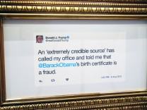 Comedy Central Opens Pop-Up Donald Trump Presidential Twitter Library In Chicago