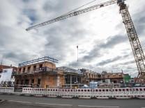 Brunnthal, die neue Ortsmitte ist im Bau