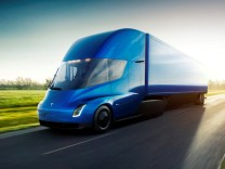 Undated handout image of the Tesla Semi