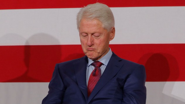 Former U.S. President Bill Clinton takes part in a campaign event for Philip Murphy, the Democratic Party nominee for Governor of New Jersey in Paramus, New Jersey