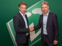 GER 1 FBL Pressekonferenz Werder Bremen 27 05 2016 Weserstadion Bremen GER 1 FBL Pressekonfer; Bode Baumann