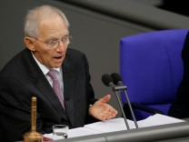 Wolfgang Schaeuble of CDU, president of the Bundestag, German lower house of Parliament, is seen during a session of the Bundestag in Berlin