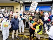 Glyphosat-Protest vor CSU GST EBE