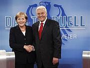 Steinmeier, Merkel, Getty