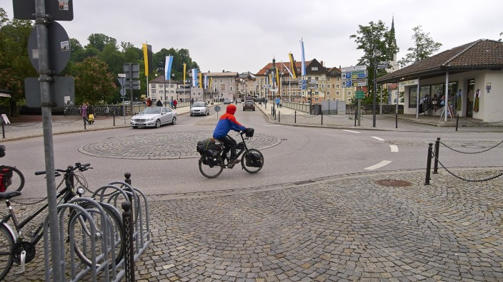 Fahrradfahrer Badstraße
