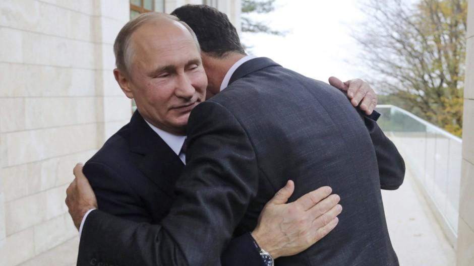 Syrien-Konflikt: Putin gratuliert Assad zum Sieg