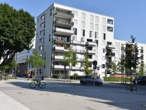 Neubauquartier am Ackermannbogen in München, 2017