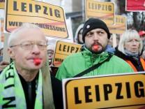 Protest gegen Entlassungen bei Siemens