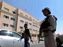 Ägyptische Soldaten in Al-Arisch