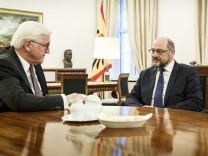 Bundespräsident Steinmeier empfängt Schulz