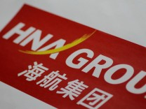 FILE PHOTO: Illustration photo of the HNA Group logo