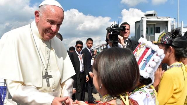 Politik Myanmar Papst in Myanmar