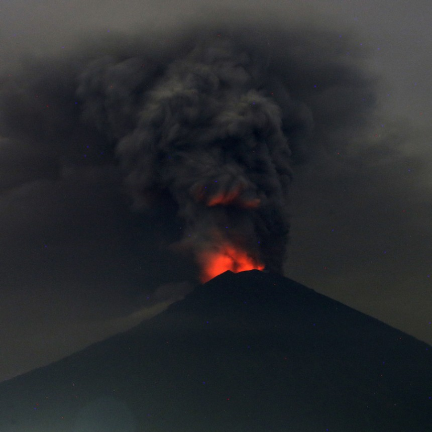 Elegant Geologie Vulkan Agung