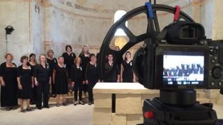 Chor Rondo Vocale aus Vaterstetten, Dreharbeiten in Sankt Ägidius Keferloh