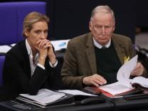 Die AfD-Fraktionsvorsitzenden Alice Weidel und Alexander Gauland im Deutschen Bundestag.