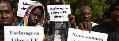 Demonstration against slavery in Bamako 24 11 2017 Mali Bamako Bamako Mali 24 11 2017