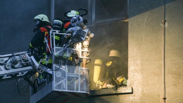 Brand auf MD-Gelände