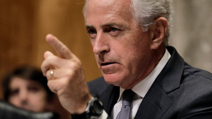 Senate Foreign Relations chairman Corker holds hearing about presidential authority to use nuclear weapons on Capitol Hill in Washington