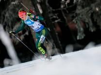 Biathlon WC Östersund Sprint Damen OSTERSUND SWEDEN – DECEMBER 1 2017 Germany s biathlete Denis