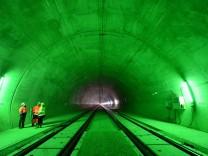 Tunnel Silberberg auf der ICE-Neubaustrecke