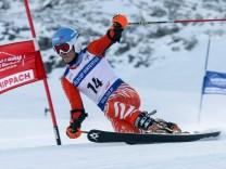 Hintertuxer Gletscher Tux AUT FIS Weltcup Telemark Herren Sprint 1 Lauf im Bild Mueller Tobi; Telemark, Tobias Müller, SC Fischen