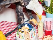 70. Geburtstag der CIA – Adler auf Geburtstagstorte