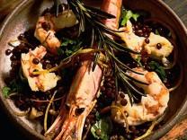 Kochquartett: Linsen aus Castelluccio mit Garnelen