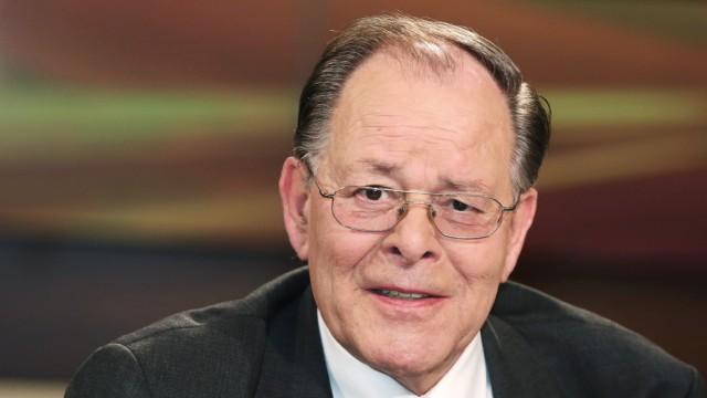 Rudolf Dreßler Ehemaliger deutscher Botschafter in Israel in der ARD Talkshow ANNE WILL am 30 07 2