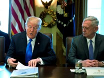 Trump holds a cabinet meeting at the White House in Washington
