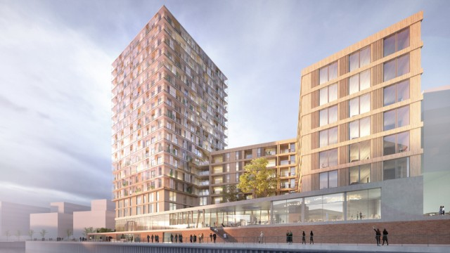 Holz-Hochhaus in Hamburgs Hafencity geplant