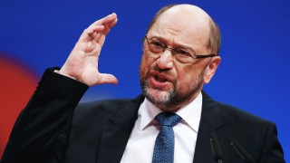 Social Democratic Party (SPD) leader Martin Schulz speaks during an SPD party convention in Berlin