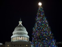 Annual U.S. Capitol Christmas Tree Lighting Ceremony Held In Washington