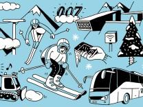 Reise Skifahren Winter Zahlen