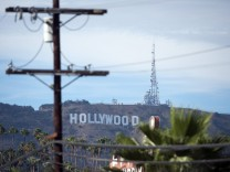 Aug 23 2014 Hollywood California USA The Hollywood can be seen in the distance above the bui