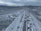 Wintereinbruch in Mexiko legt Verkehr lahm (Vorschaubild)