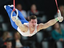 Jim Zona FRA during qualification of 2015 European Artistic Gymnastics Championships in Montpellie