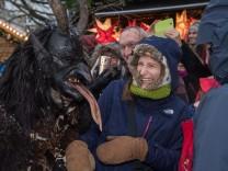 Krampuslauf auf Münchner Christkindlmarkt