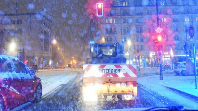 Wintereinbruch in Berlin