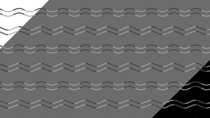 Optische Täuschung macht aus Welle Zickzack-Muster