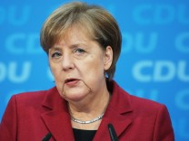 Merkel Speaks Following CDU Meeting Over Coalition With SPD