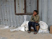 Palästinensischer Junge in Rafah;AFP