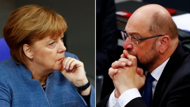 Angela Merkel und Martin Schulz