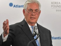 US Secretary of State Rex Tillerson addresses the 2017 Atlantic Council – Korea Foundation Forum