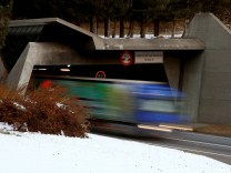 FILE PHOTO: Southern gate of the St. Gotthard road tunnel is seen in Airolo