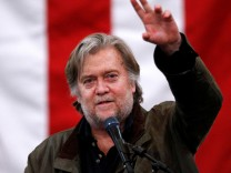 ormer White House Chief Strategist Steve Bannon speaks during a campaign rally for Republican candidate for U.S. Senate Judge Roy Moore in Midland City