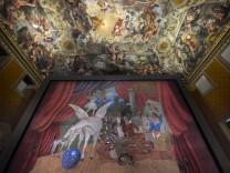 Parade, rideau de scène de Picasso exposé au Palais Barberini - Rome