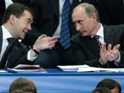 Medwedjew, Putin, Russland, Tollpatsche im Kreml, AFP