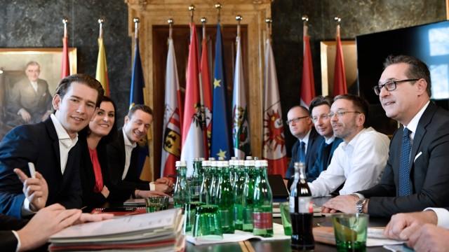 Kolaitionsverhandlungen in Österreich
